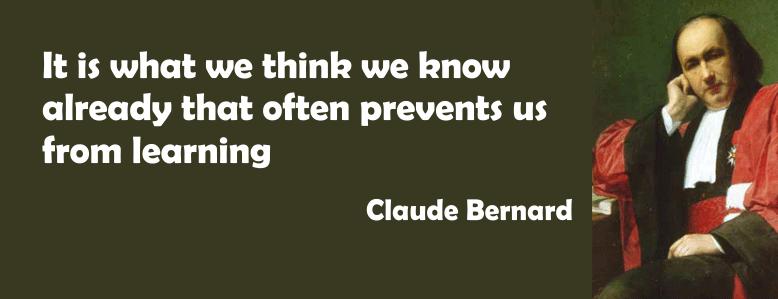 Claude BErnard Quote